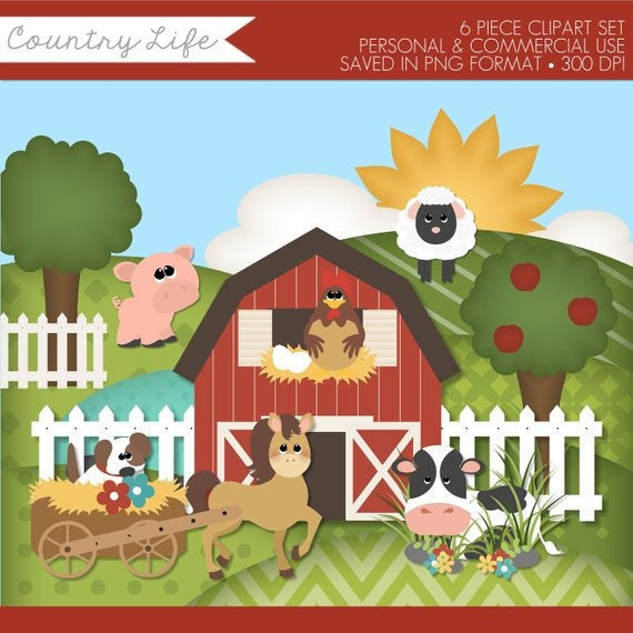 Farm animals barnyard . Barn clipart clip art