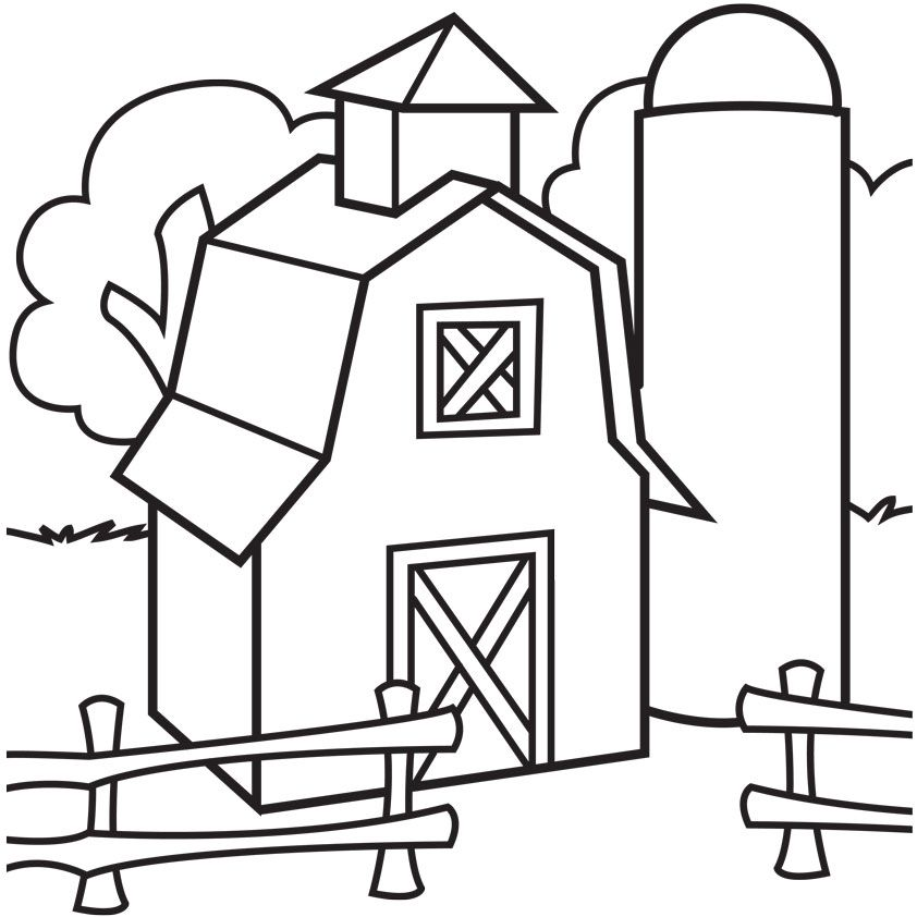 Free pictures to download. Barn clipart color