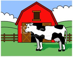 Clipart cow barn. And stock vectors me