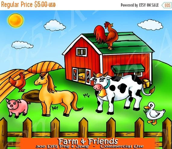 off farm clip. Barn clipart cow