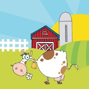 . Barn clipart cow