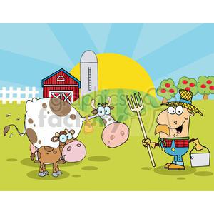 Royalty free country farm. Farmer clipart cattle farming