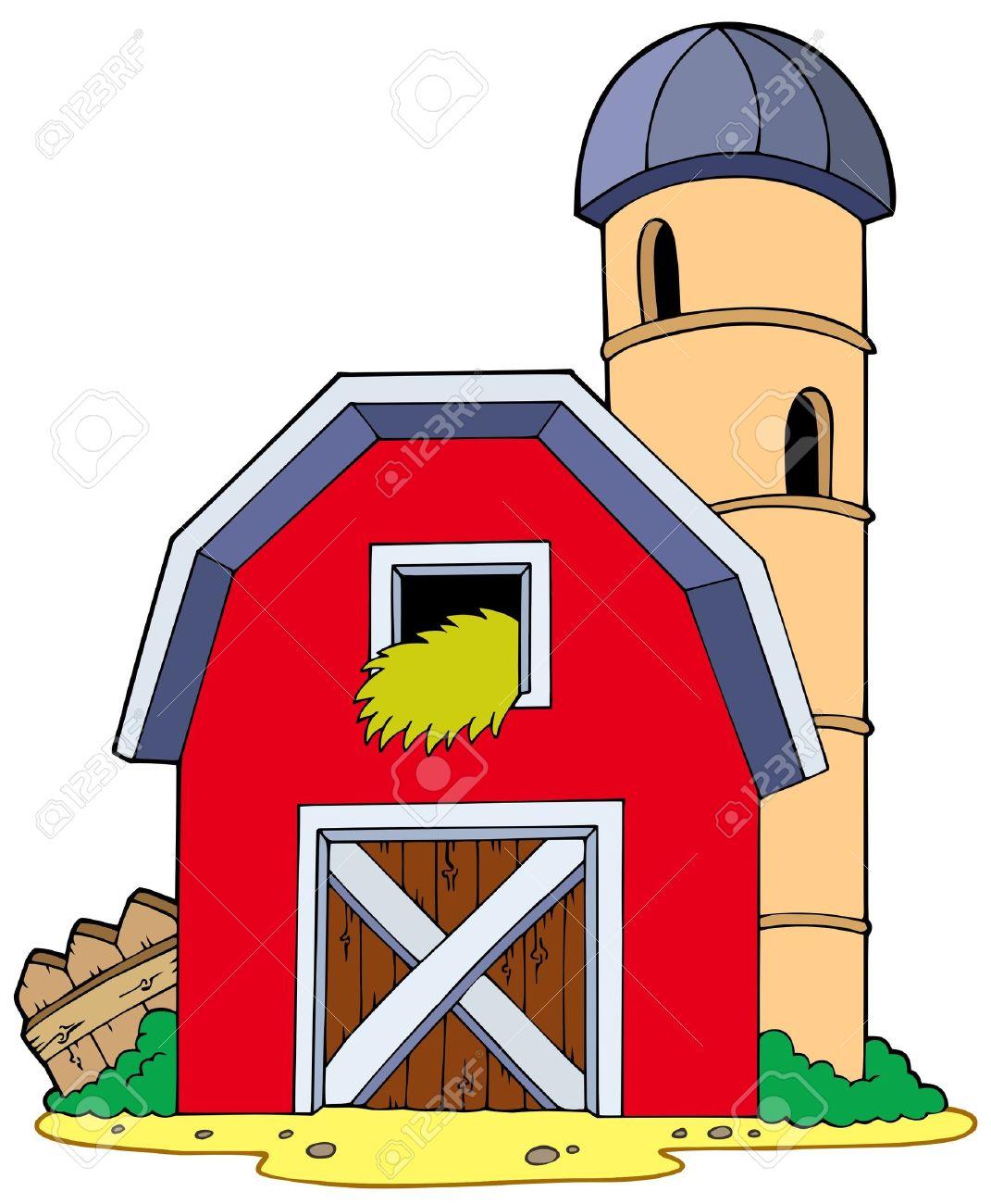 Cute Farm With Barn and Silo - Free Clip Art | Farm art, Farm pictures, Barn  drawing