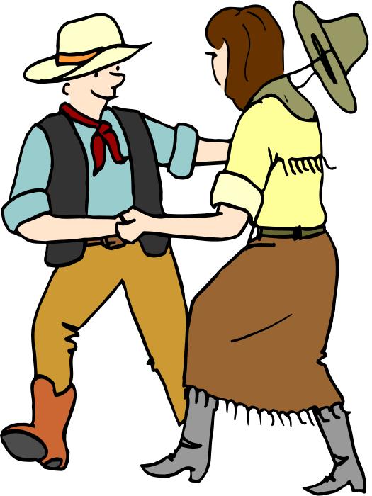 The annual parish social. Barn clipart dancing