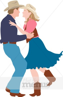 Dance barbeque. Barn clipart dancing