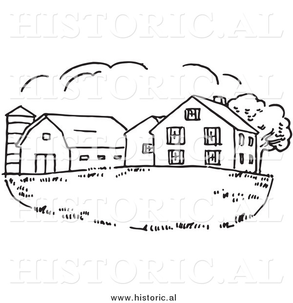 Of a farm house. Barn clipart drawing