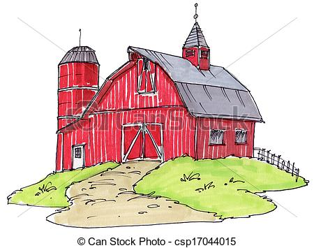 Old . Barn clipart drawing