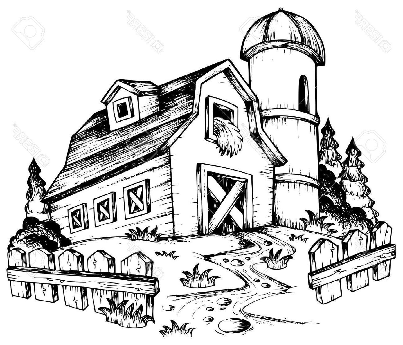 Barn clipart drawing. Barns at getdrawings com