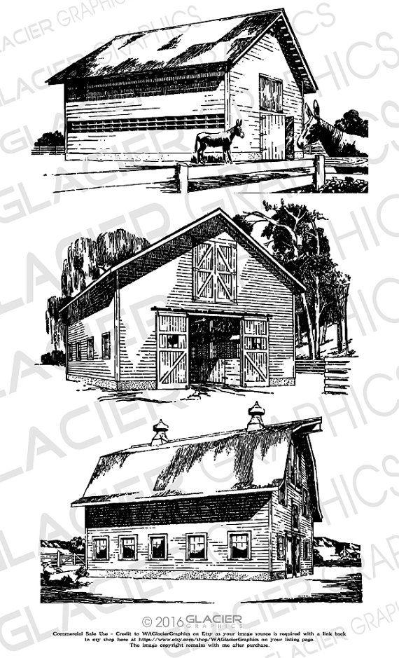 Cabin clipart vintage.  barn illustrations vector