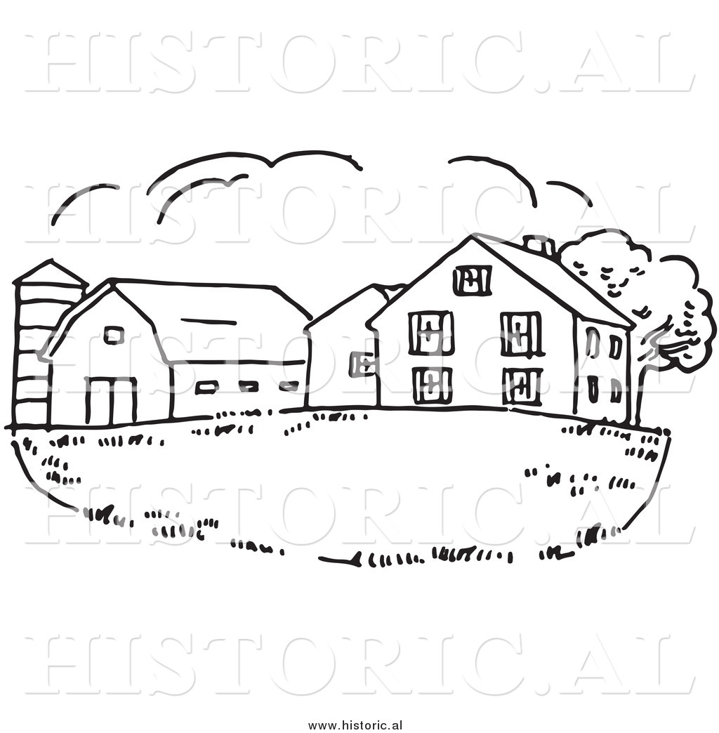 Clip art black and. Barn clipart drawing