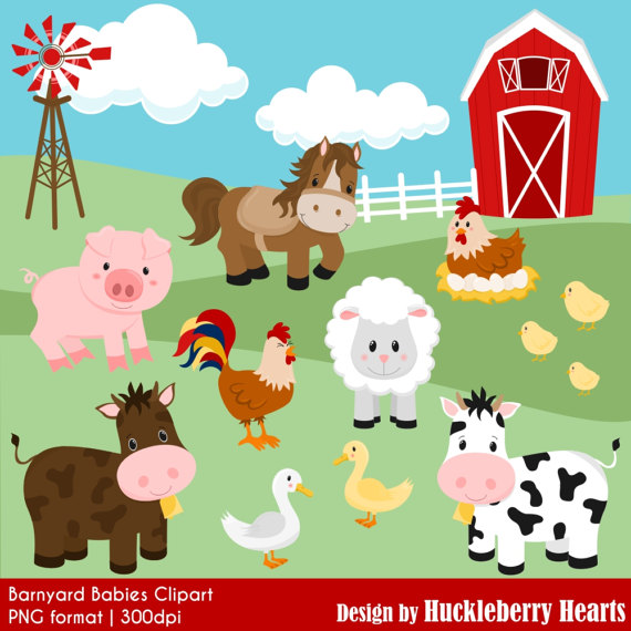 Farm barnyard cow horse. Barn clipart equine