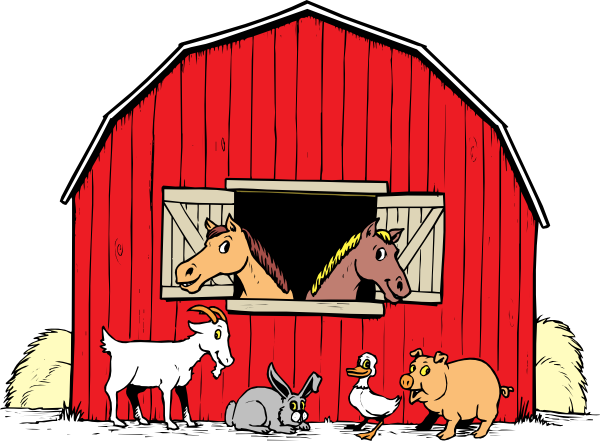Horse stall . Barn clipart equine