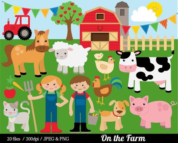 Barn clipart farmyard. Farm animal clip art
