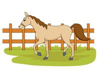 Free farm animals clip. Barn clipart fence