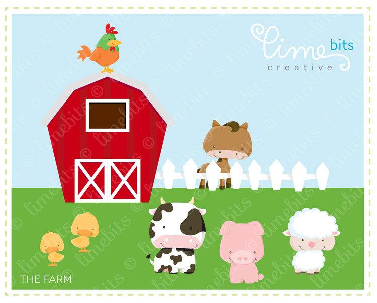 Farm for decoration clip. Barn clipart fence