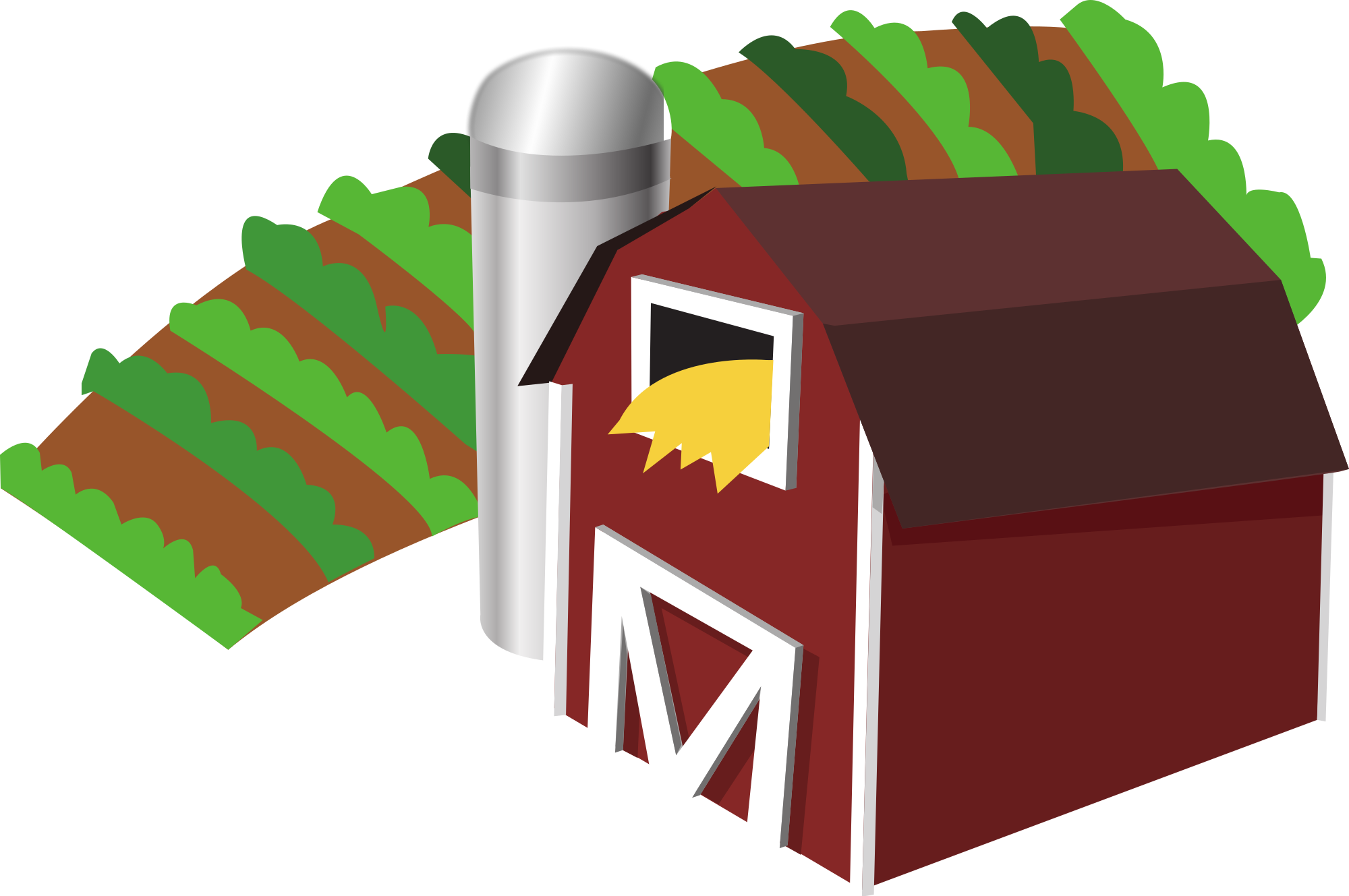 File barn with farm. Winter clipart log cabin