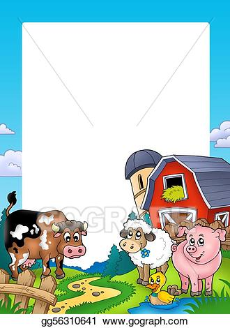 Stock illustration with and. Barn clipart frame