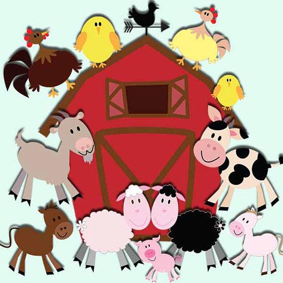 Farm animals clip art. Barn clipart frame