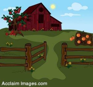 Farm . Barn clipart gate
