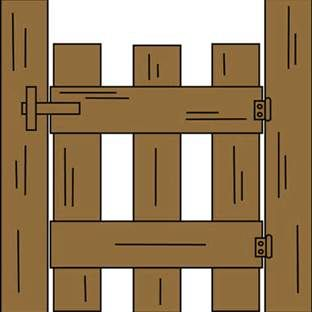 Ranch entrance gates clip. Barn clipart gate