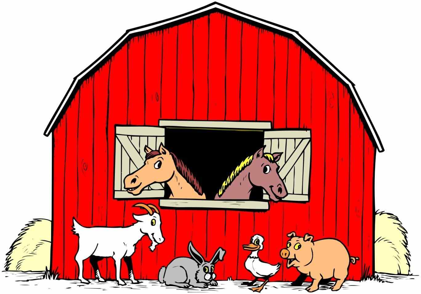 Farm pencil and in. Barn clipart horse stable