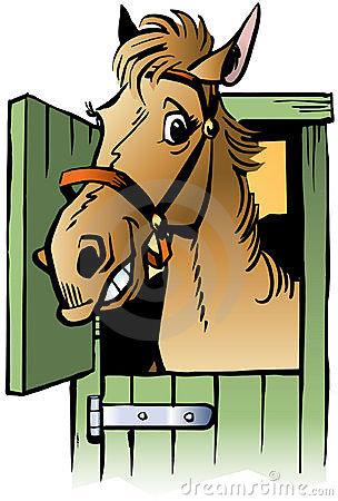 . Barn clipart horse stable