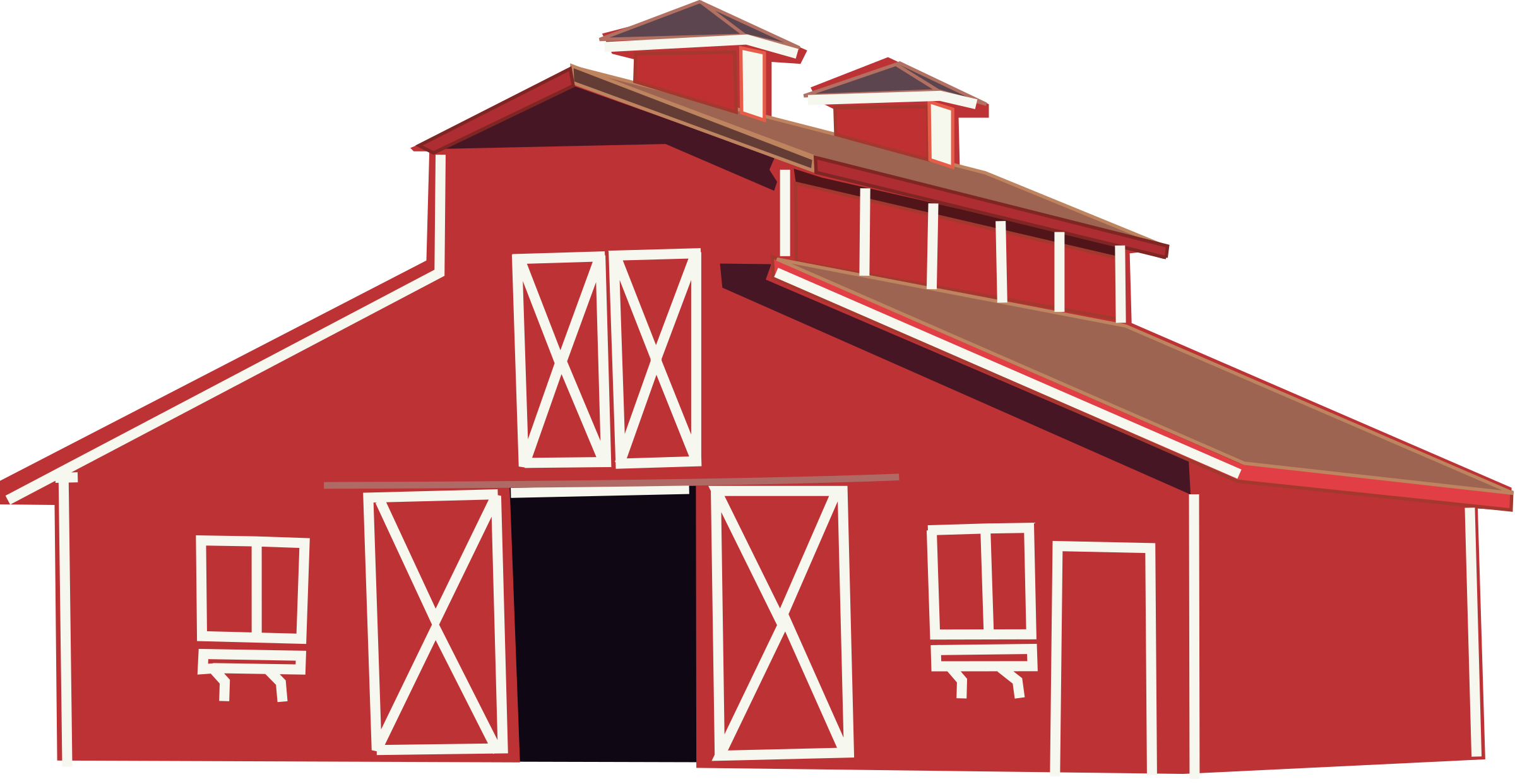 Red at getdrawings com. Barn clipart line drawing