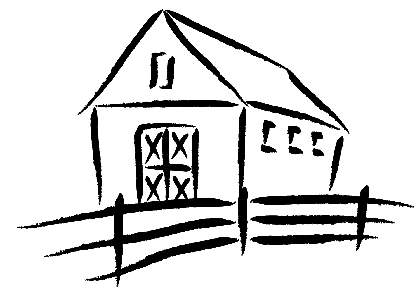At getdrawings com free. Barn clipart line drawing