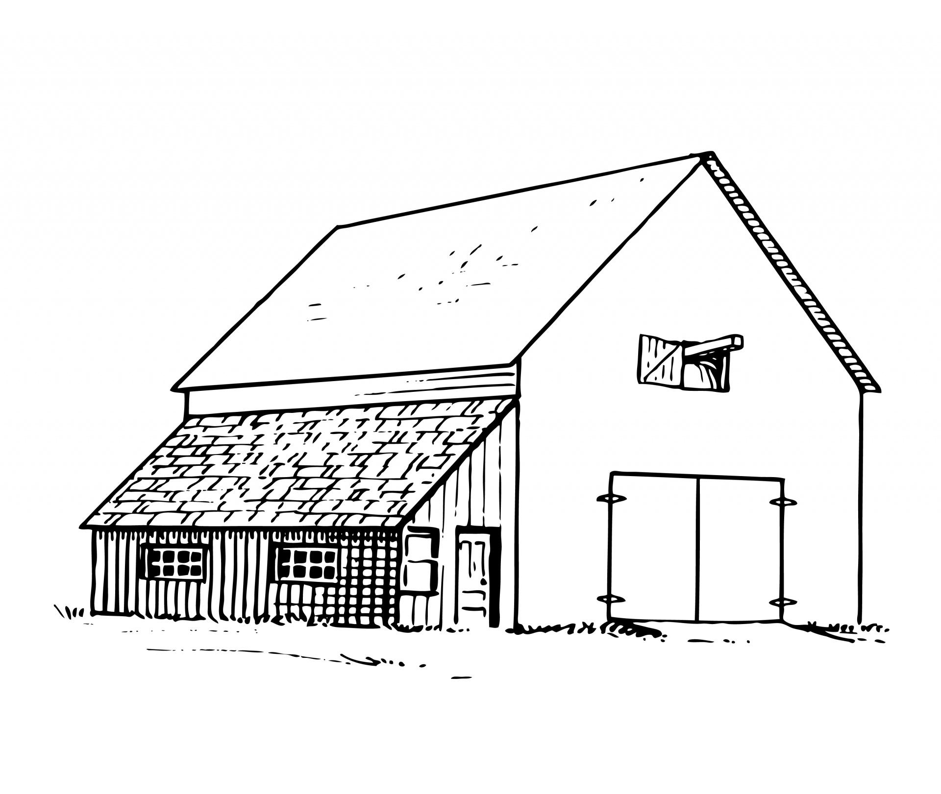 Barn clipart old barn. Illustration free stock photo