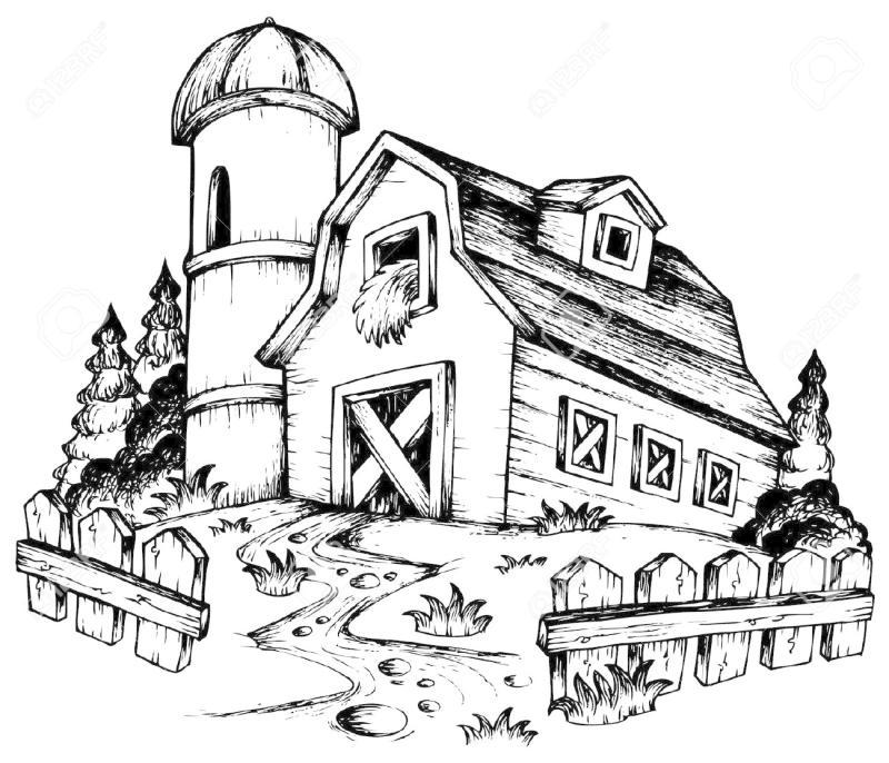Drawing at getdrawings com. Barn clipart old barn