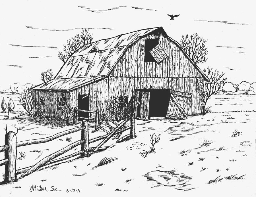 Barn clipart old barn. Abandoned by crosshatcher on