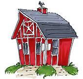 Stock illustrations royalty free. Barn clipart old barn