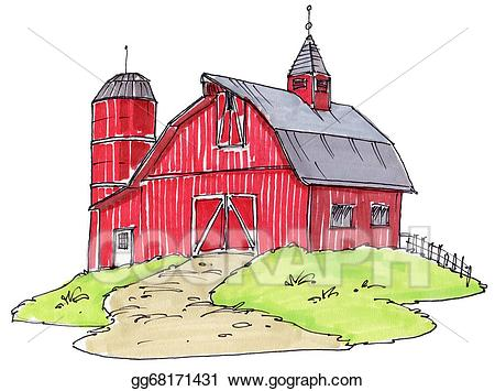 Stock illustration illustrations . Barn clipart old barn