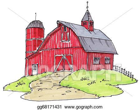 Stock illustration illustrations gg. Barn clipart old barn