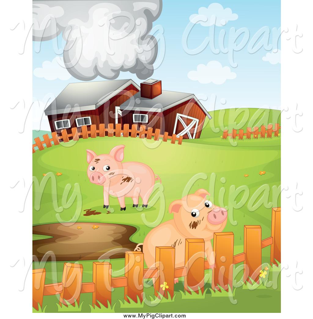 Swine of a cute. Barn clipart pig