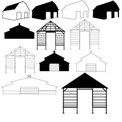 Clipart barn pole barn. Photoshop brushes brushlovers com