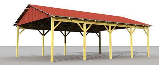 Custom post frame kits. Barn clipart pole barn