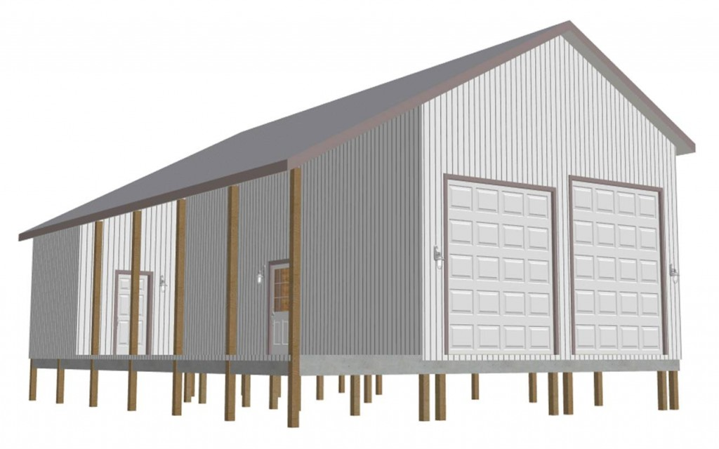 Rv garage plans sign. Barn clipart pole barn