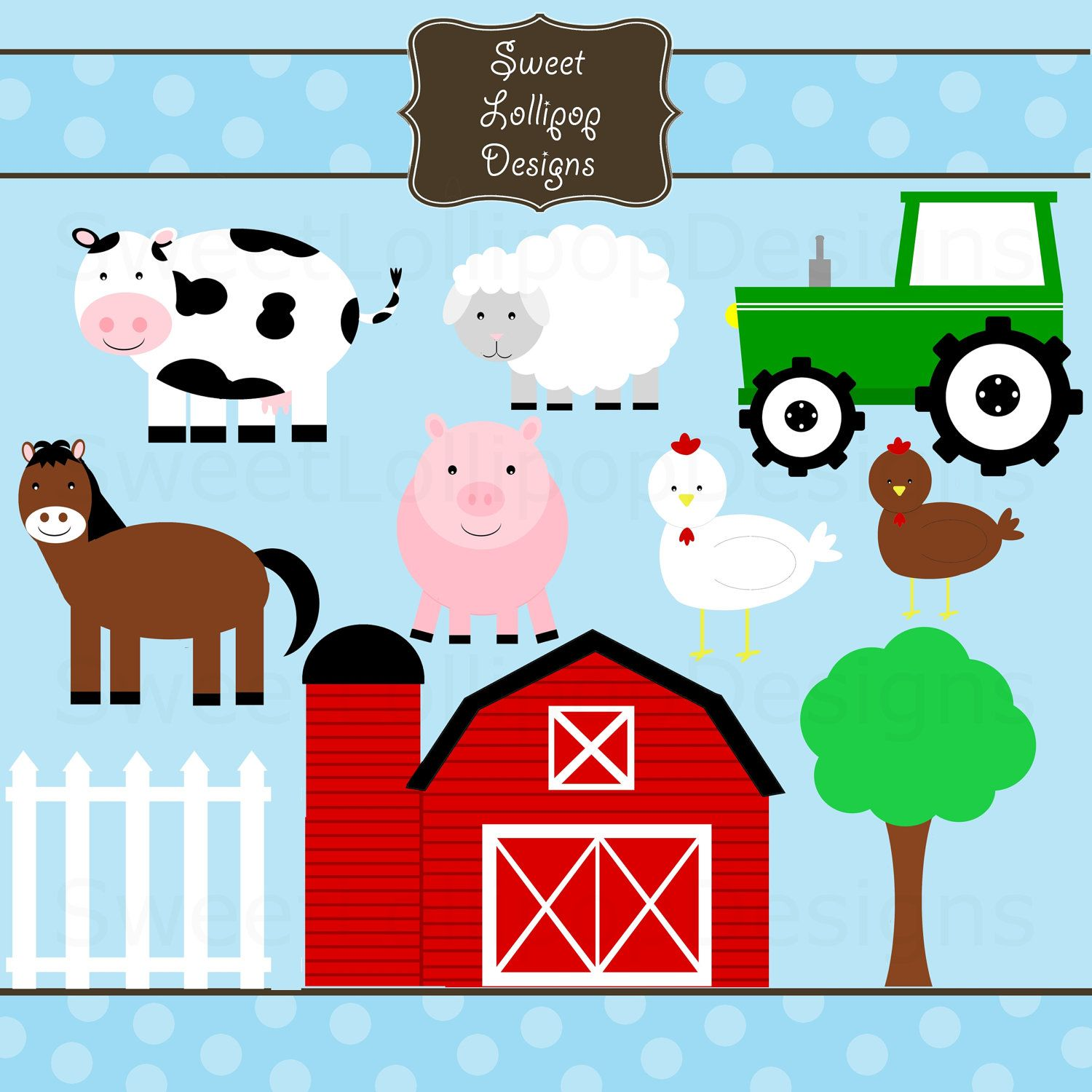 Farm animal free printables. Barn clipart printable