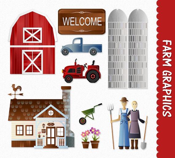 Farm clip art graphics. Barn clipart printable