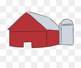 Cattle silo farm clip. Barn clipart ranch house