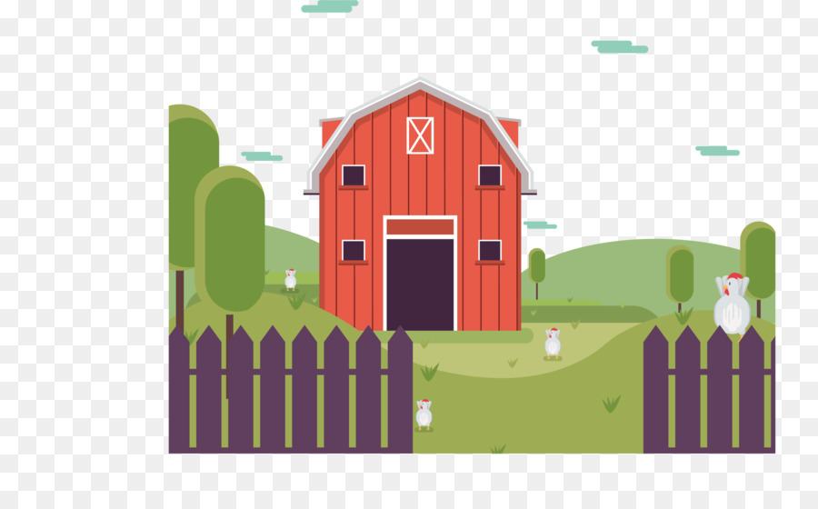 Farm fence land png. Barn clipart ranch house