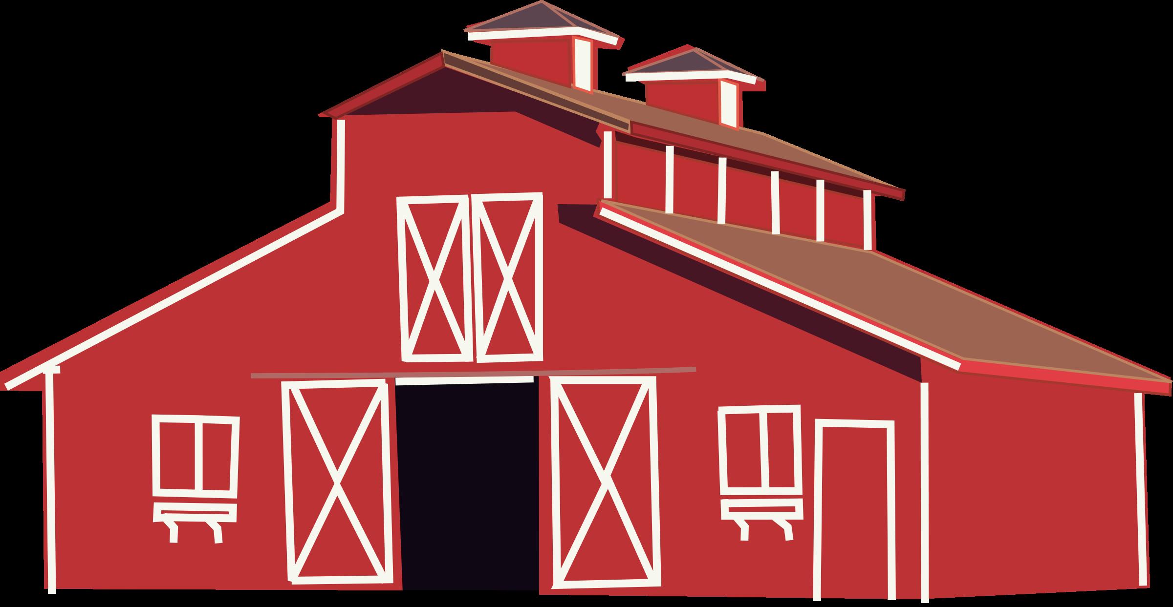 Barn clipart red barn. Clip art for modern