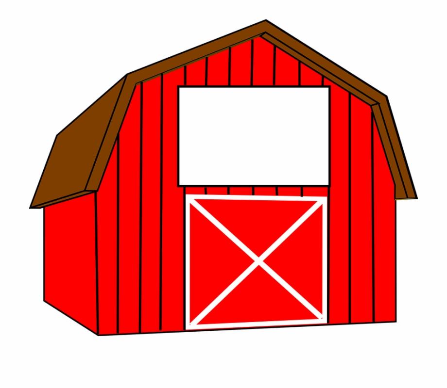 Barn clipart red barn. Farm stable clip art