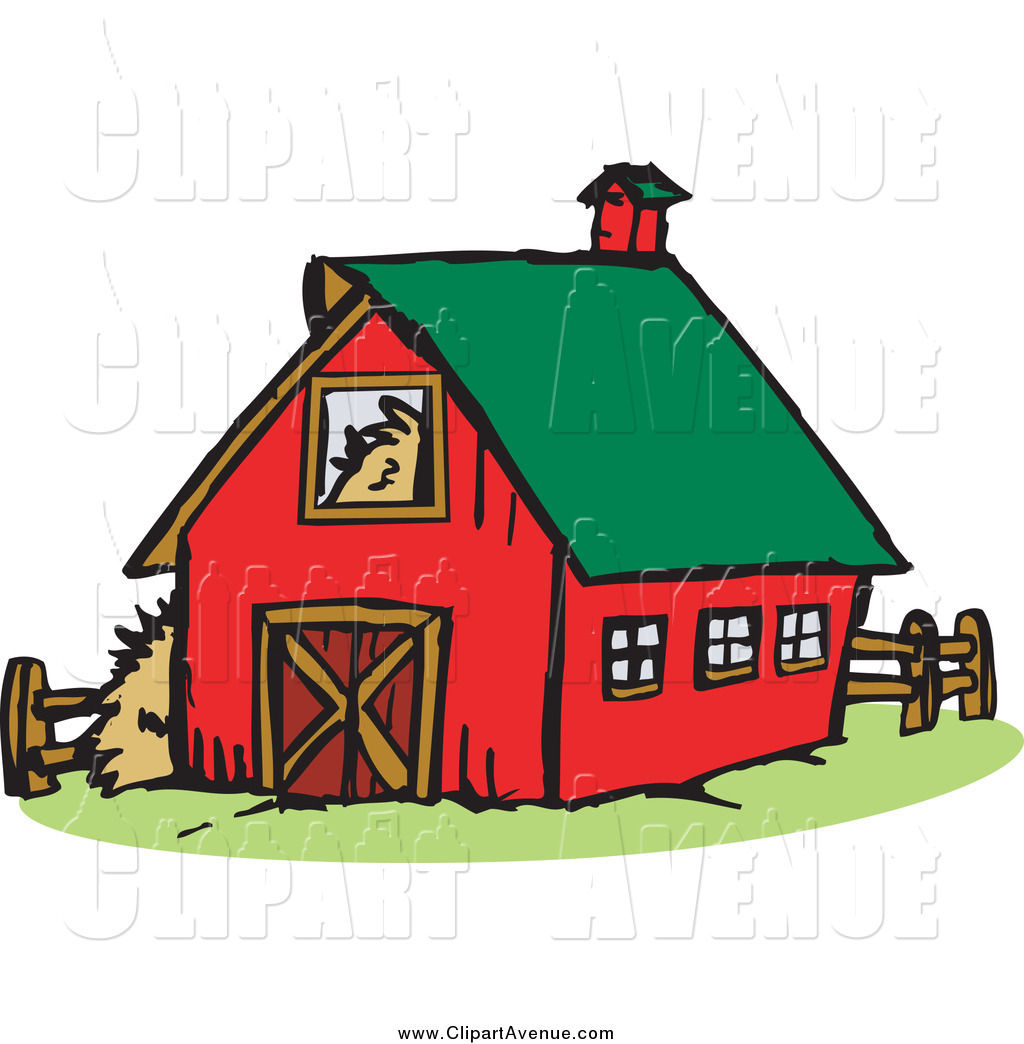 Avenue of a with. Barn clipart red barn