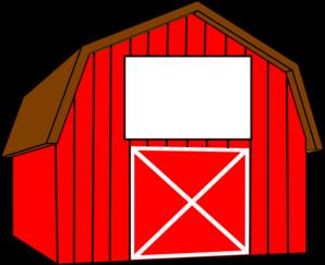 Clipart barn. Clip art red