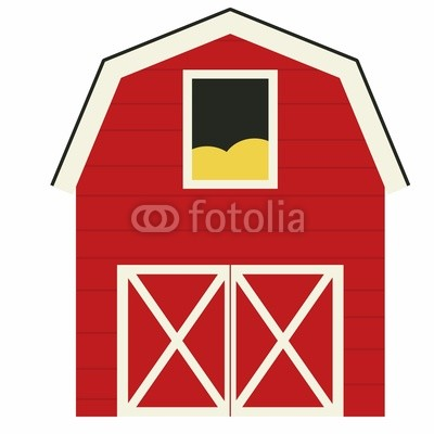 Barn clipart red barn. Old