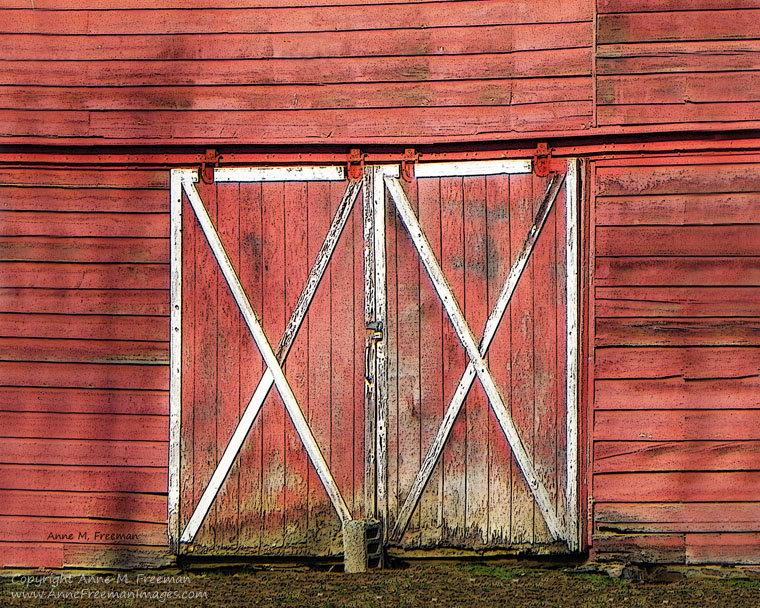 Barn clipart rustic barn. Beauteous red doors clip