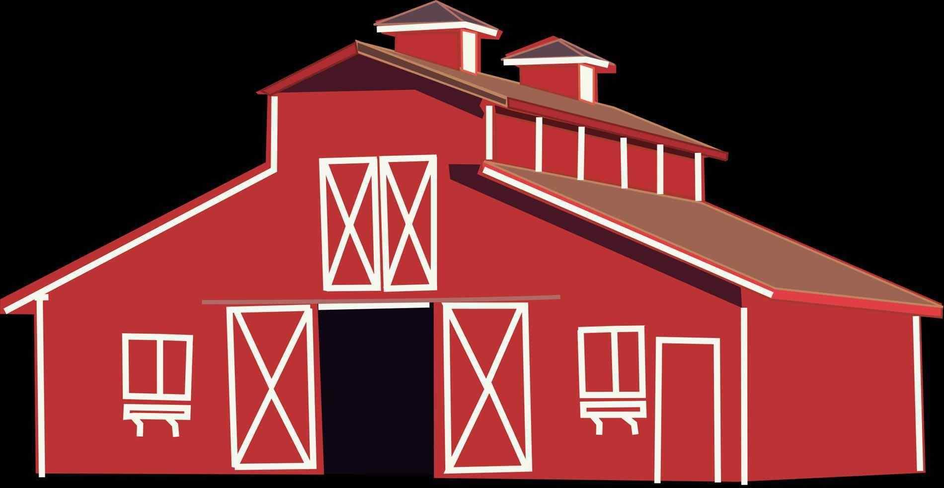 Lightbox red farm doors. Barn clipart rustic barn