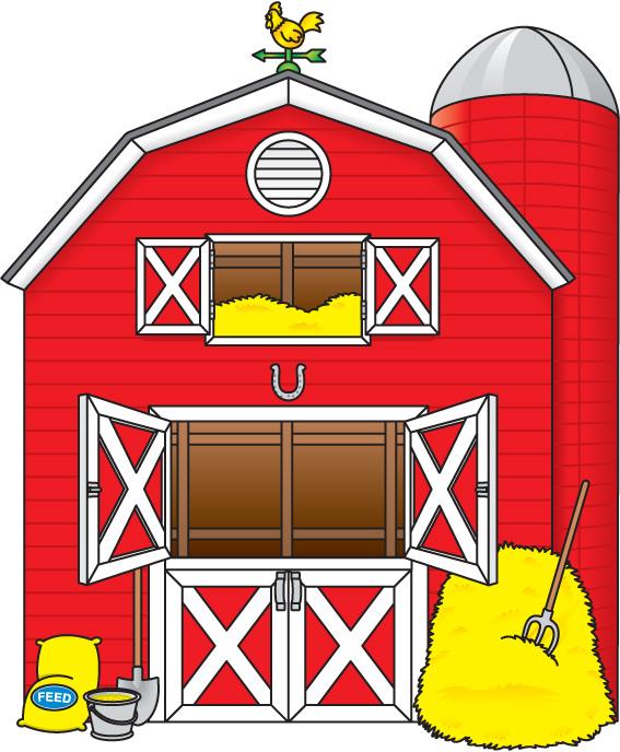 Barn land top clip. Farmhouse clipart large farm